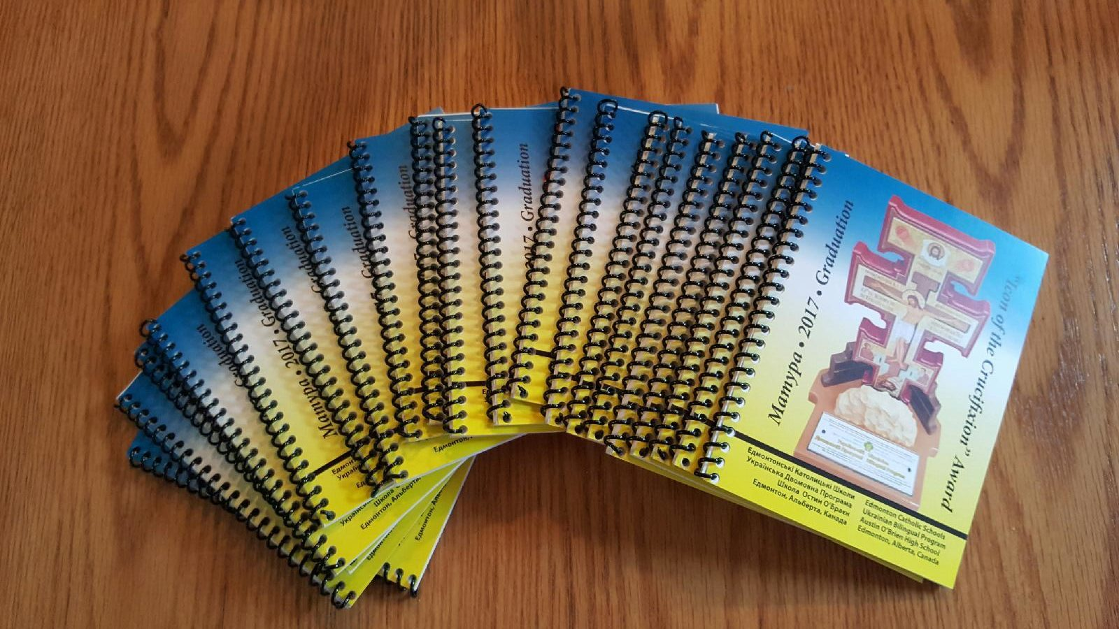 Custom coiled booklets
